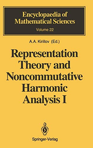 9783540186984: Representation Theory and Noncommutative Harmonic Analysis I: Fundamental Concepts. Representations of Virasoro and Affine Algebras: v. 1 (Encyclopaedia of Mathematical Sciences)