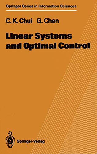 9783540187370: Linear Systems and Optimal Control
