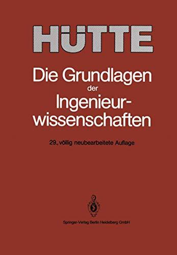 H Tte: Die Grundlagen Der Ingenieurwissenschaften (German Edition)