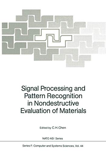 9783540191001: Signal Processing and Pattern Recognition in Nondestructive Evaluation of Materials (Nato ASI Subseries F:)