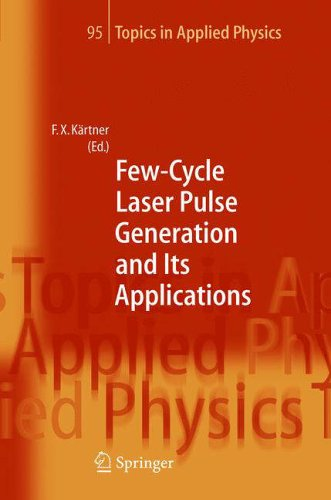 Few-Cycle Laser Pulse Generation and Its Applications: Franz X. Kärtner