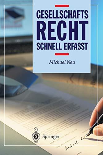9783540204336: Gesellschaftsrecht - Schnell erfasst