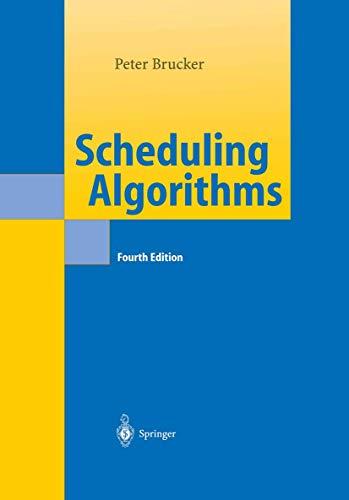 9783540205241: Scheduling Algorithms