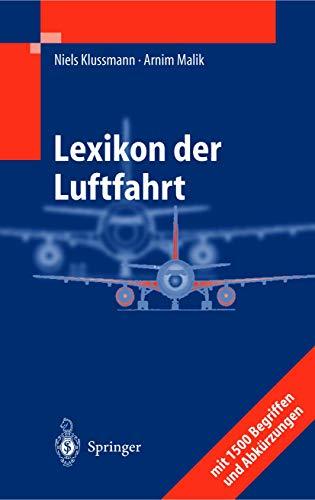 9783540205562: Lexikon der Luftfahrt (German Edition)