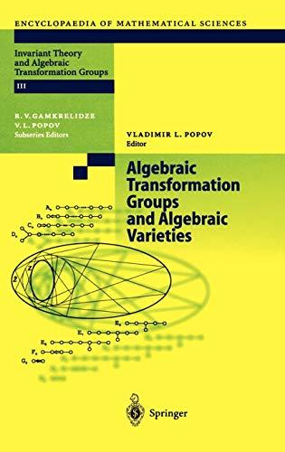 9783540208389: Algebraic Transformation Groups And Algebraic Varieties