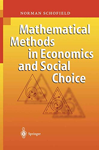 9783540211389: Mathematical Methods in Economics and Social Choice