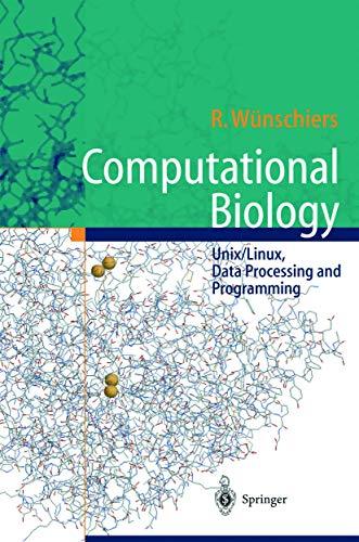 9783540211426: Computational Biology —: Unix/Linux, Data Processing and Programming