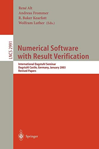 9783540212607: Numerical Software with Result Verification