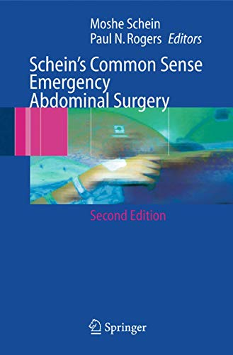 9783540215363: Schein's Common Sense Emergency Abdominal Surgery