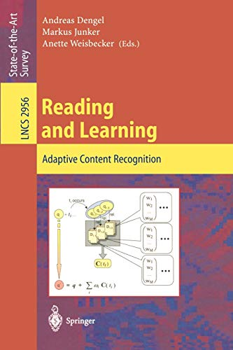 9783540219040: Reading and Learning: Adaptive Content Recognition (Lecture Notes in Computer Science)