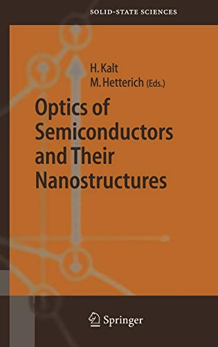 9783540220688: Optics of Semiconductors and Their Nanostructures (Springer Series in Solid-State Sciences)