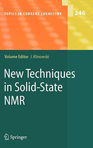 New Techniques in Solid-State NMR: J. Klinowski