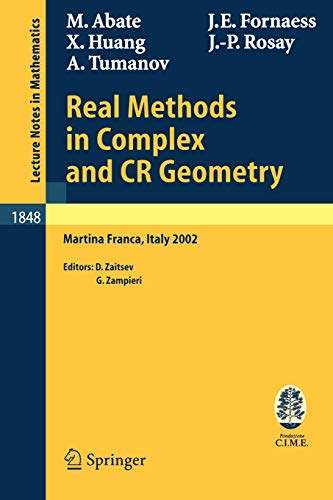 Real Methods in Complex and CR Geometry: Marco Abate; John