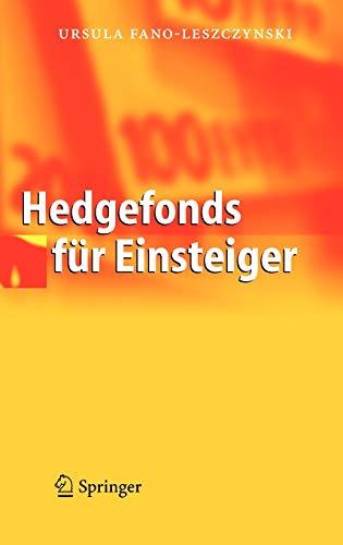 9783540226956: Hedgefonds für Einsteiger