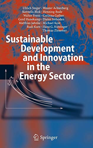 9783540231035: Sustainable Development and Innovation in the Energy Sector