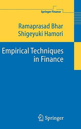 9783540251231: Empirical Techniques in Finance (Springer Finance)