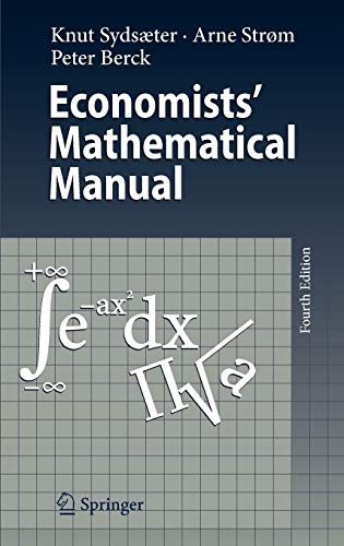 9783540260882: Economists' Mathematical Manual