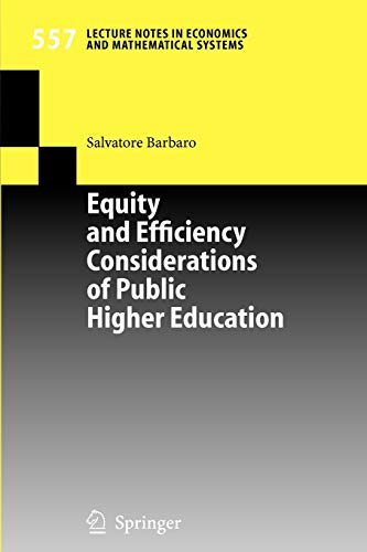 Equity and Efficiency Considerations of Public Higher: Salvatore Barbaro