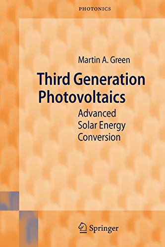 9783540265627: Third Generation Photovoltaics: Advanced Solar Energy Conversion (Springer Series in Photonics)
