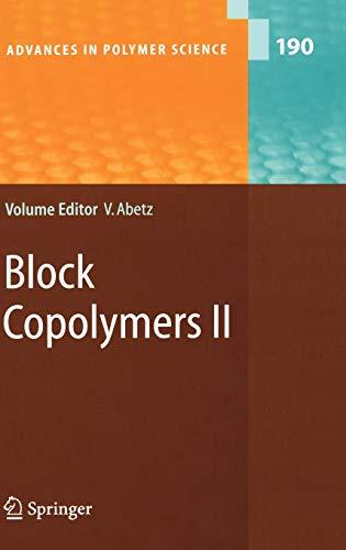 Block Copolymers II: Volker Abetz