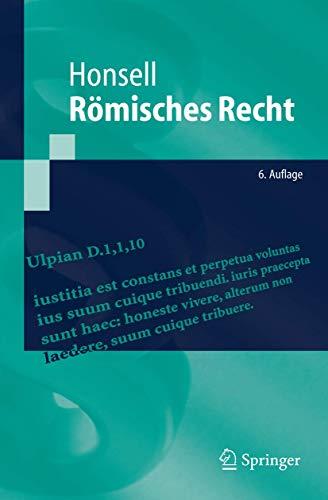 9783540281184: Römisches Recht (Springer-Lehrbuch) (German Edition)
