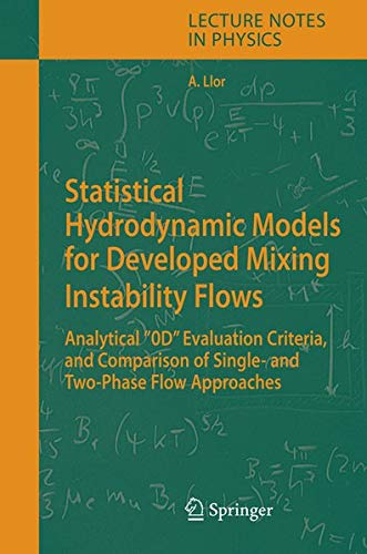 9783540283300: Statistical Hydrodynamic Models for Developed Mixing Instability Flows: Analytical