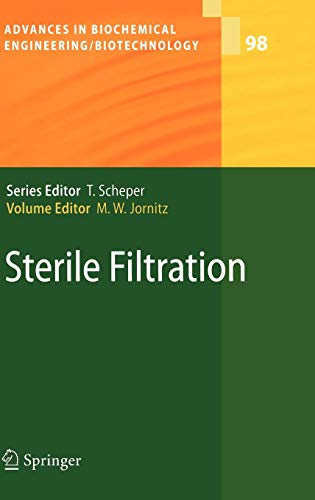 Sterile Filtration Advances in Biochemical EngineeringBiotechnology