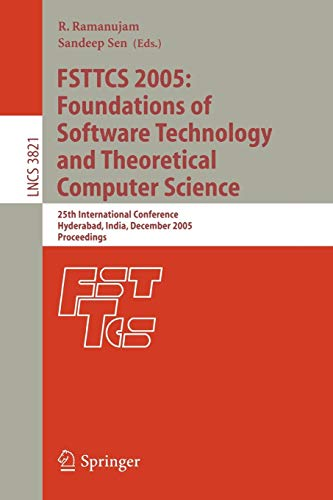 FSTTCS 2005: Foundations of Software Technology and: M. Agrawal, Paritosh