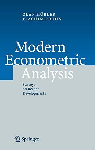 9783540326922: Modern Econometric Analysis: Surveys on Recent Developments