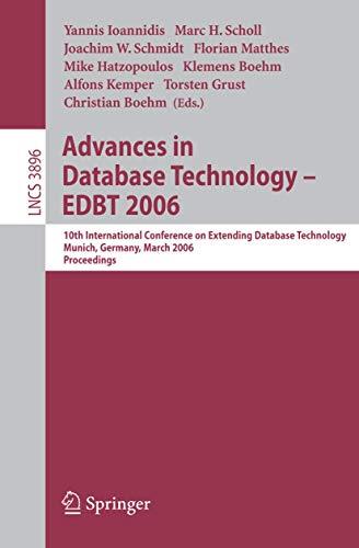 Advances in Database Technology - EDBT 2006: 10 International Conference on Extending Database ...