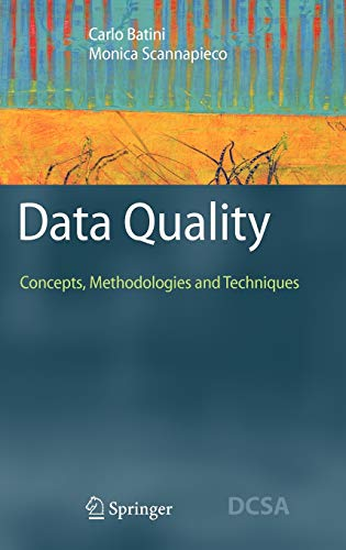 9783540331728: Data Quality: Concepts, Methodologies and Techniques (Data-Centric Systems and Applications)