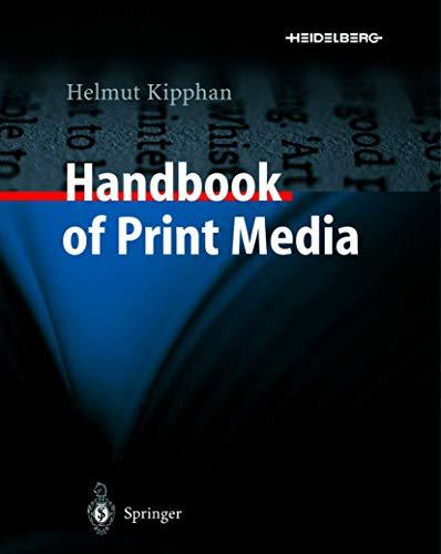 9783540335702: Handbook of Print Media: Technologies and Production Methods