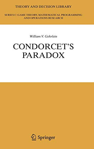 9783540337980: Condorcet's Paradox (Theory and Decision Library C)