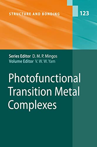 Photofunctional Transition Metal Complexes: V. W. W. Yam