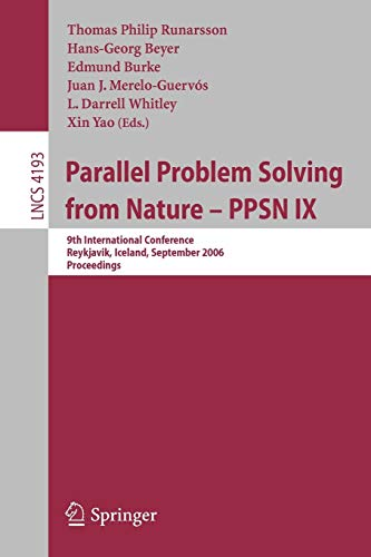 Parallel Problem Solving from Nature - Ppsn IX: 9th International Conference, Jeykjavik, Iceland, ...