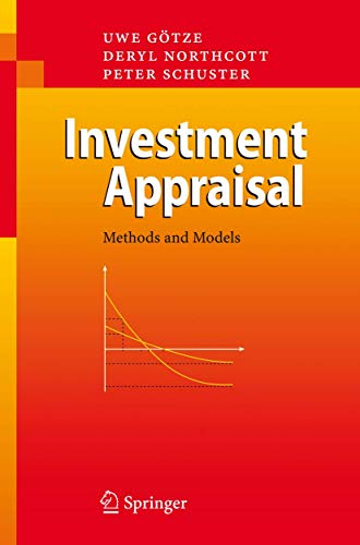 9783540399681: Investment Appraisal: Methods and Models