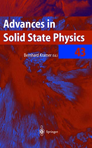 Advances in Solid State Physics 43: Bernhard Kramer