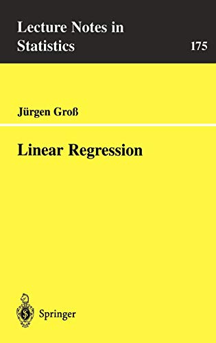 9783540401780: Linear Regression (Lecture Notes in Statistics)