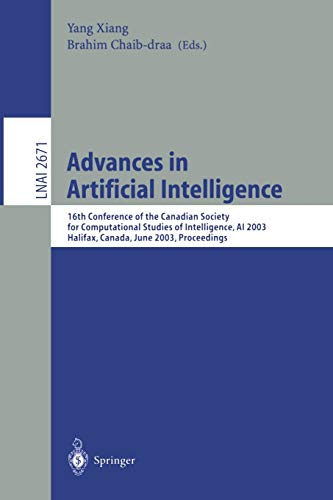 Advances in Artificial Intelligence: 16th Conference of the Canadian Society for Computational ...