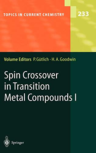9783540403944: Spin Crossover in Transition Metal Compounds I
