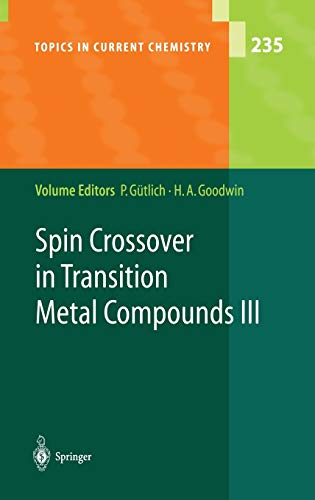 9783540403951: Spin Crossover in Transition Metal Compounds III