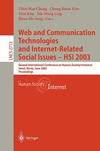 Web Communication Technologies and Internet-Related Social Issues