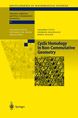 9783540404699: Cyclic Homology in Non-Commutative Geometry (Encyclopaedia of Mathematical Sciences)