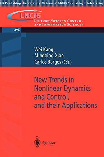 New Trends in Nonlinear Dynamics and Control,
