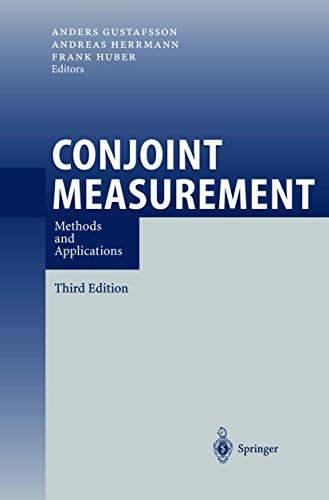 9783540404798: Conjoint Measurement: Methods and Applications