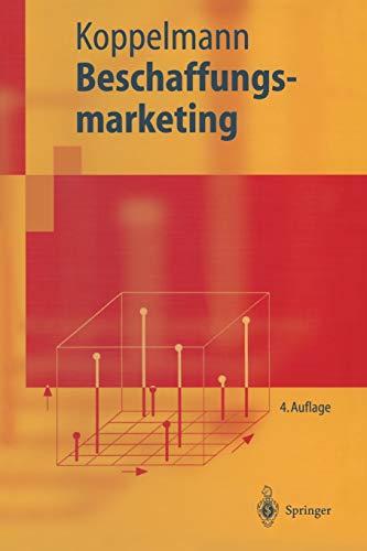 9783540407065: Beschaffungsmarketing (Springer-Lehrbuch) (German Edition)