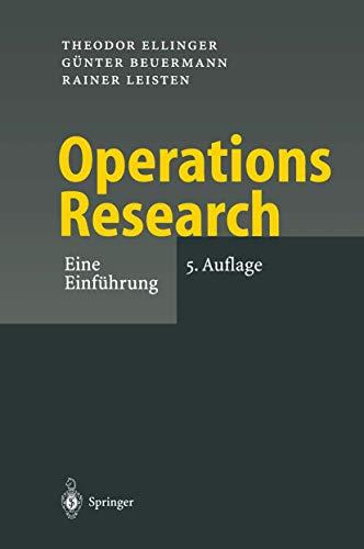 9783540410508: Operations Research: Eine Einführung (German Edition)