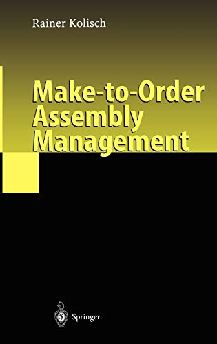 9783540410980: Make-to-Order Assembly Management