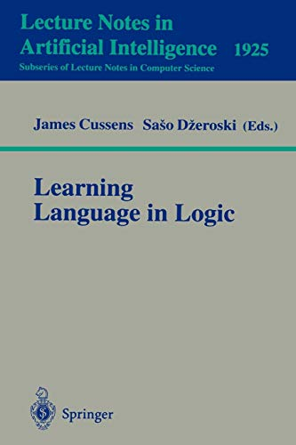 9783540411451: Learning Language in Logic (Lecture Notes in Computer Science)