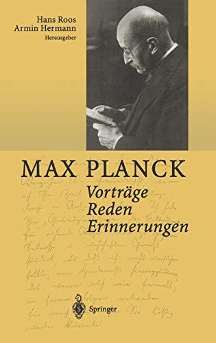 9783540412748: Vorträge Reden Erinnerungen (German Edition)